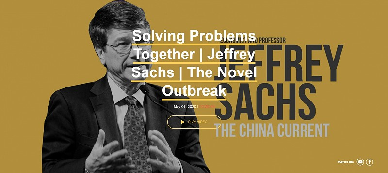 Jeffrey Sachs, economist and University Professor at Columbia University