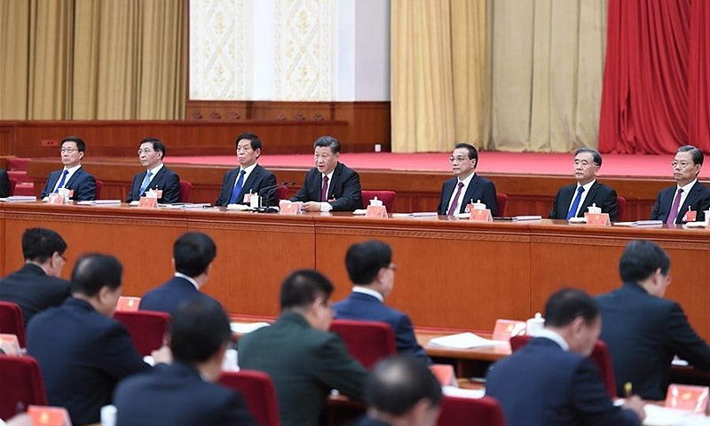 The four-day meeting finalized the blueprint for the 14th Five-Year Plan, which will determine China's economic and social policy vision from 2021-2025. [Photo credit: Xinhua]