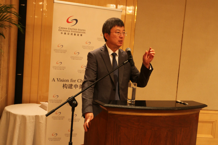IMF Deputy Managing Director Zhu Min shared his views with CUSEF supporters