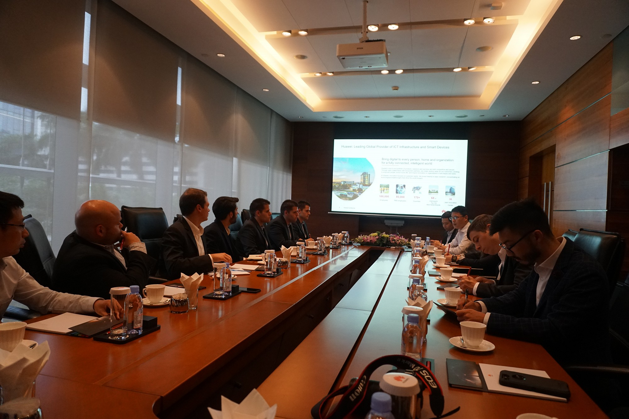 Meeting at Huawei's headquarter in Shenzhen