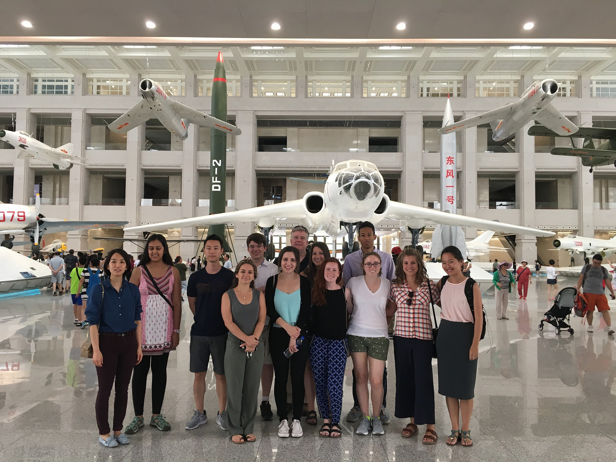 Students explore the Military Museum of the Chinese People's Revolution