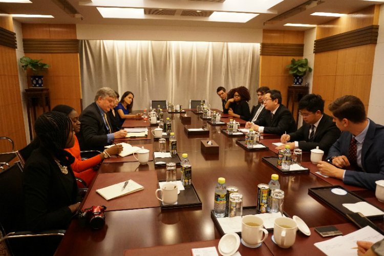 Meeting with Counselor Wang Yu, Ministry of Foreign Affairs