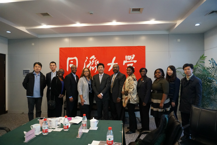 The delegation visited the Tongji University in Shanghai and met with Vice-President Professor Wu Jiang