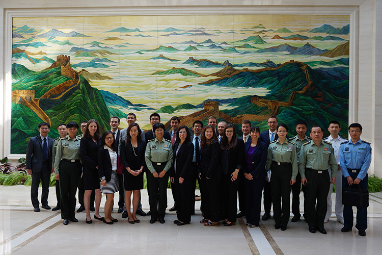 Harvard student delegation visited the PLA Academy of Military Science