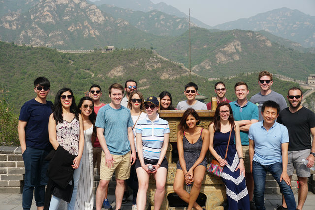 Students from the Harvard Kennedy School Student Exchange Program visited the Great Wall on a sunny day