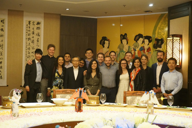 Executive Director of CUSEF, Mr. Alan Wong, hosted a welcome dinner for the Harvard students in Beijing