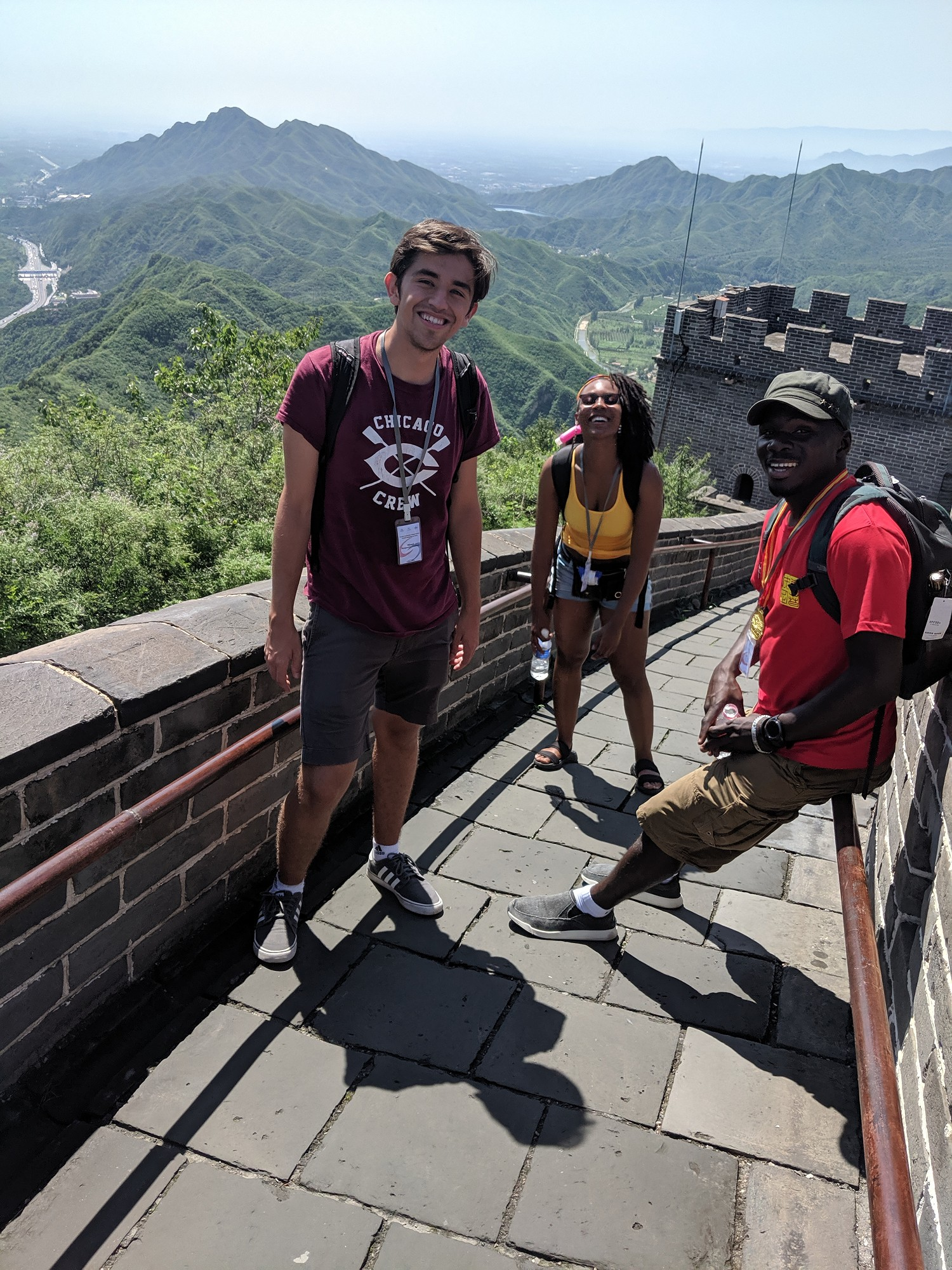 Peralta students at the highest point on the Great Wall
