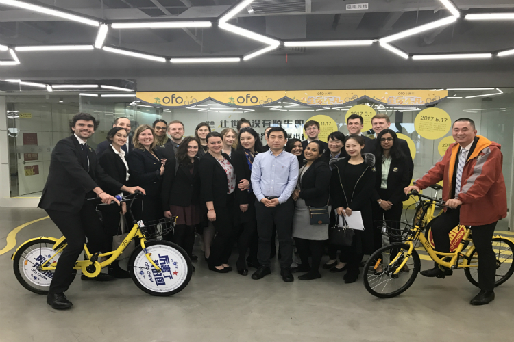 The delegation visits OFO
